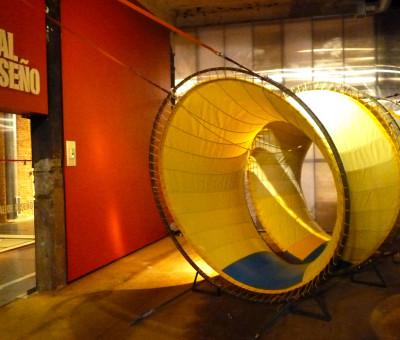 Instalación de Orugami Terra en Matadero de Madrid